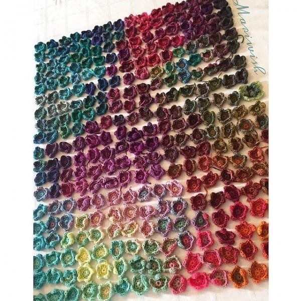 mariwish crochet flowers