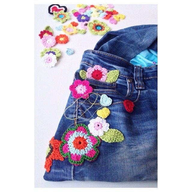 marretjeroos crochet flowers