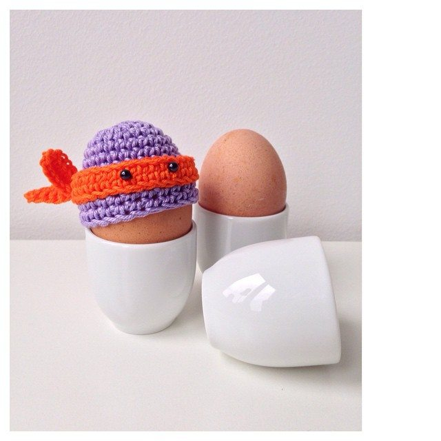 marretjeroos crochet nina turtle egg cozy