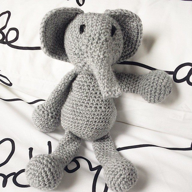 missmotherhook crochet elephant