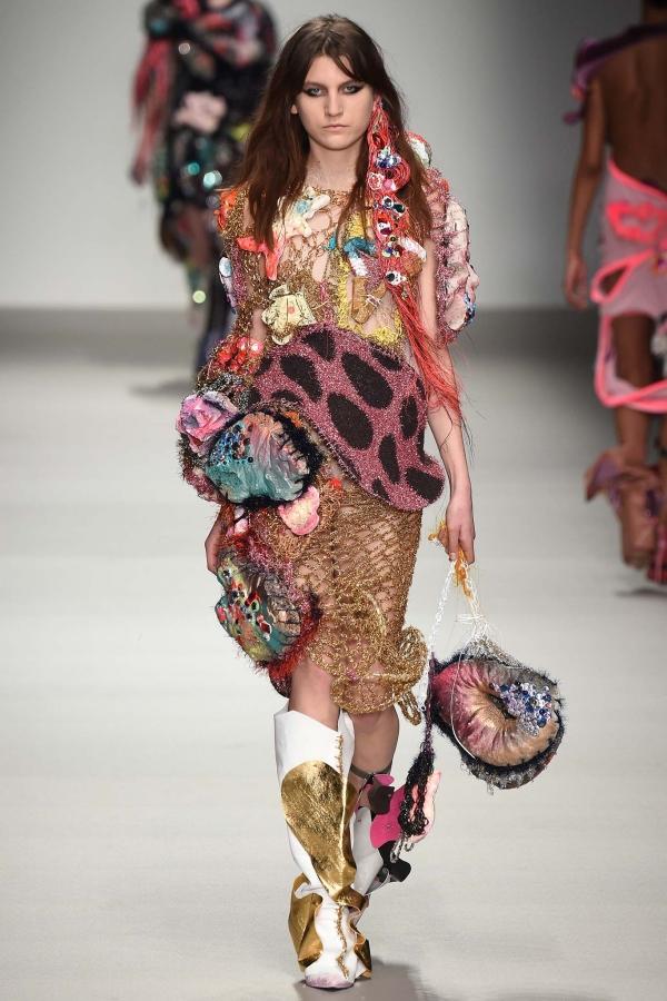 mixed media fashion crochet