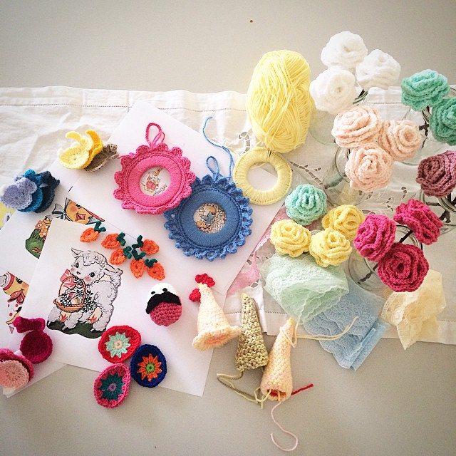 pauline.c.morgan crochet easter decorations