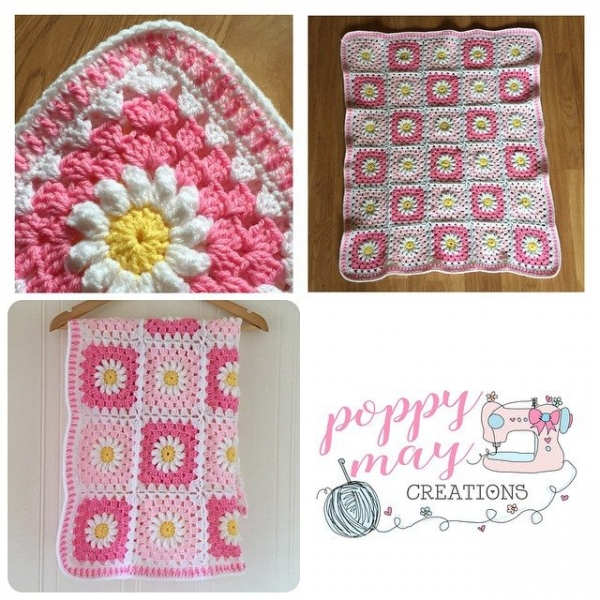 poppymaycreations crochet blanket