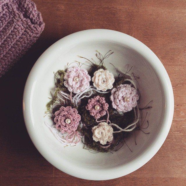 raimarie16 crochet pearl flowers