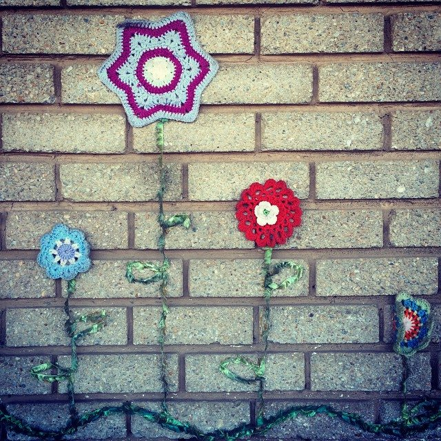 stelcrochet crochet flower art