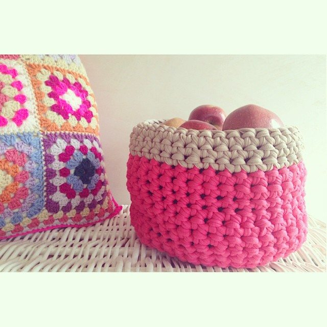 sweet_sharna crochet apple basket