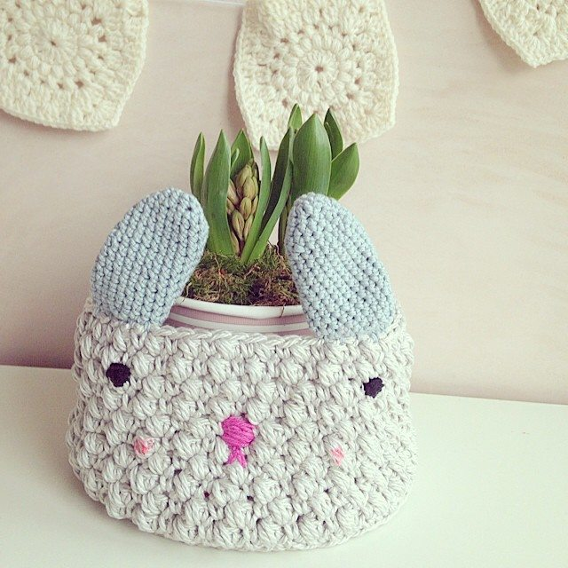 sweet_sharna crochet bunny basket