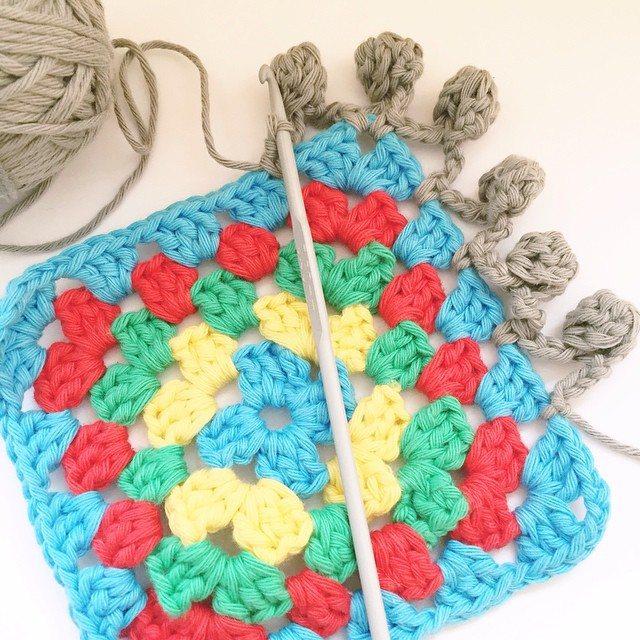 teaandcrafting crochet granny square