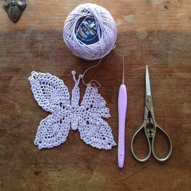 woolyana crochet butterfly for fmshopemandala