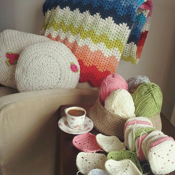 annesurr crochet chevron and squares