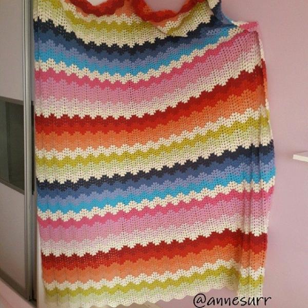 annesurr ripple crochet colorful