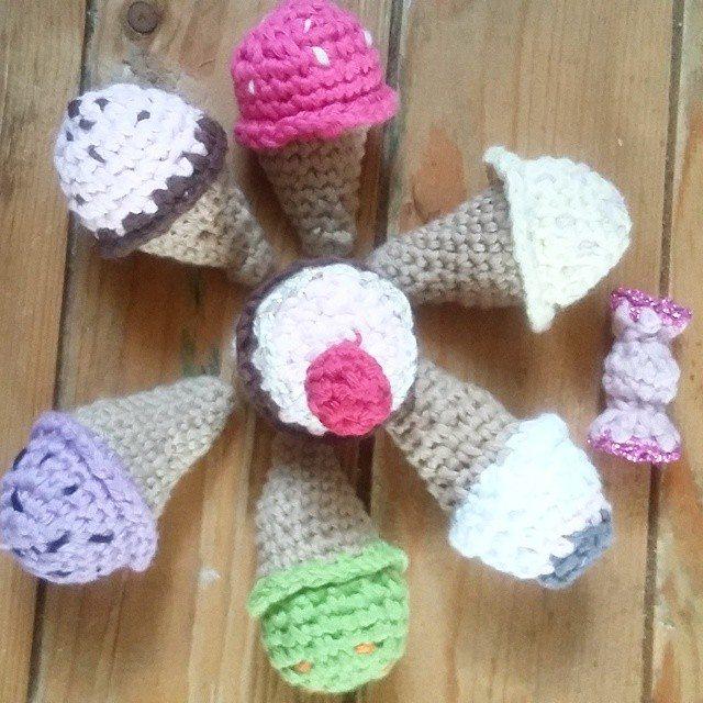babgabaa crochet ice cream cones