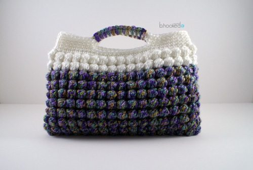 bobble clutch crochet purse pattern
