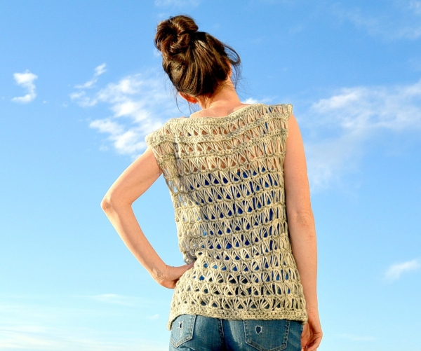 broomstick lace crochet top pattern