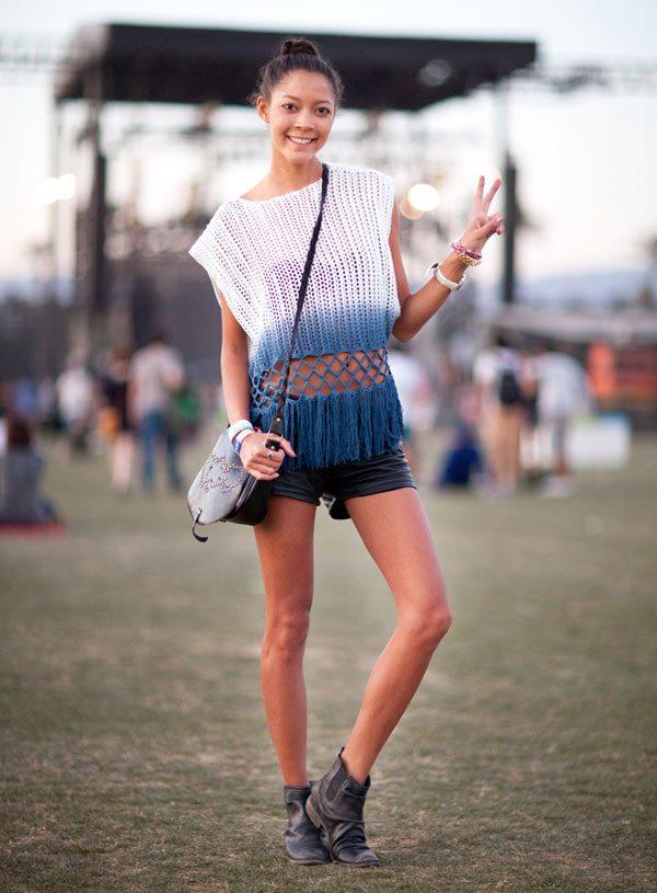 coachella crochet shirt