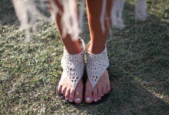 coachella crochet shoes