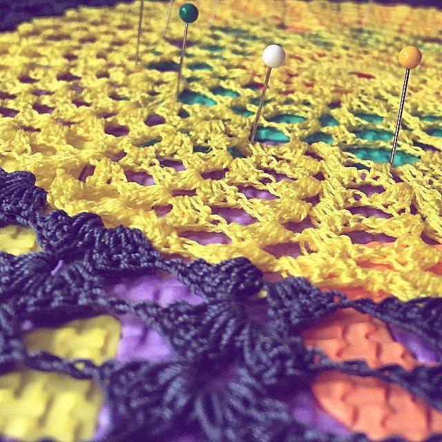 cozamundo crochet doily blocking