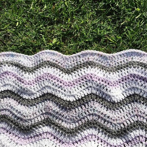 cozamundo crochet ripple blanket