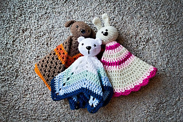 Free Pattern Crochet Lovey : 15 Adorables bebes animaux couverture Crochet Patterns