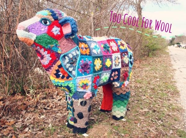 crochet art sheep