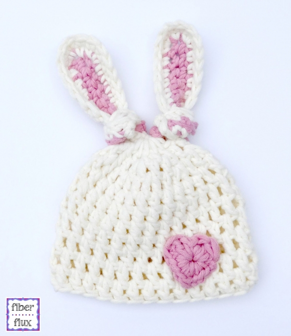 Crochet Bunny Hat With Flower Pattern : 16 New Crochet Patterns (Link Love)