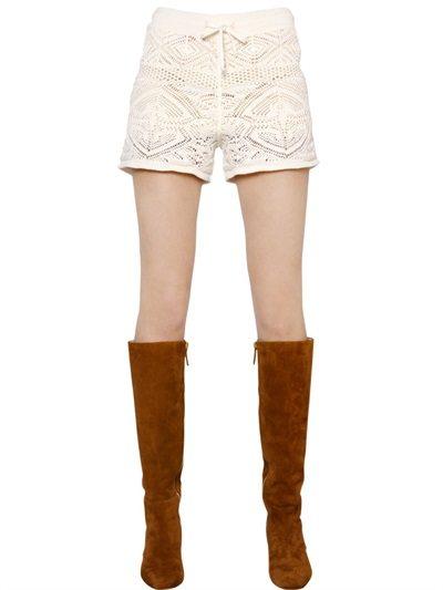 crochet cotton shorts