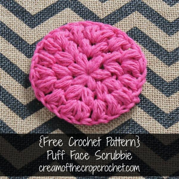 crochet face scrubbie free pattern