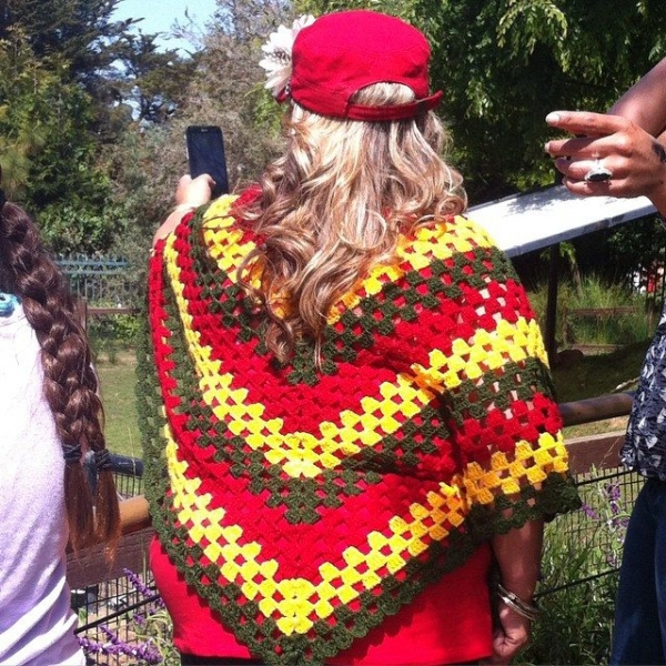 crochet granny poncho