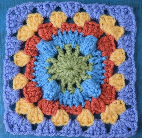 Crochet Granny Stitch : Crochet popcorn granny square free pattern by @UCrafter via @ ...
