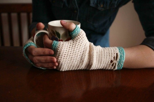 crochet handwarmer pattern