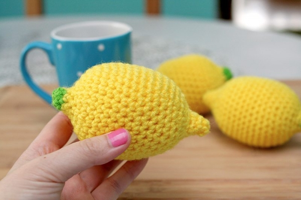 crochet lemon stress ball pattern