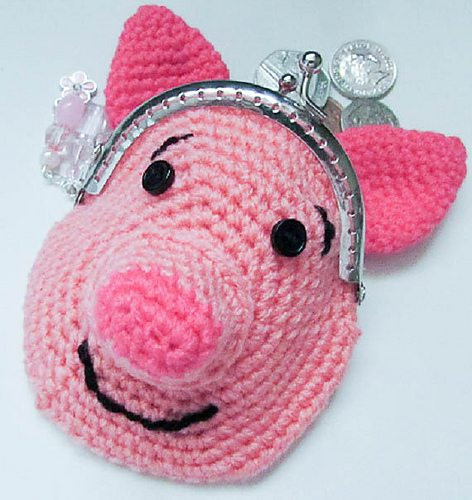 crochet pig coin purse patter