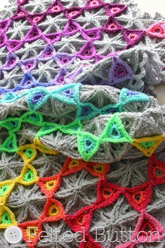 crochet prism blanket pattern