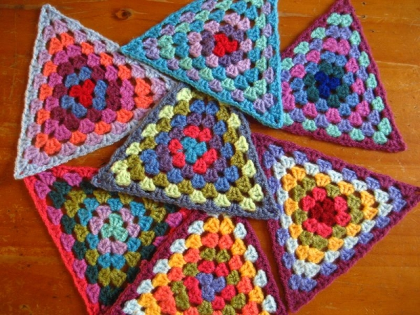 gehaakte driehoek bunting