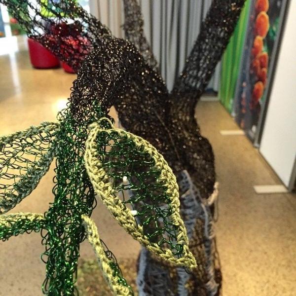 crochet wire tree