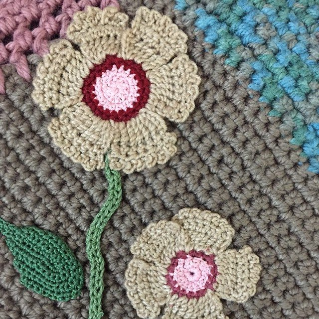 crochet_hj1436 crochet flower art