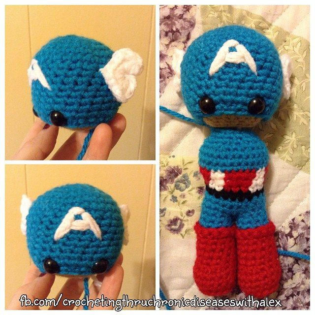 crochetinghtruchronicdiseases crochet captain america