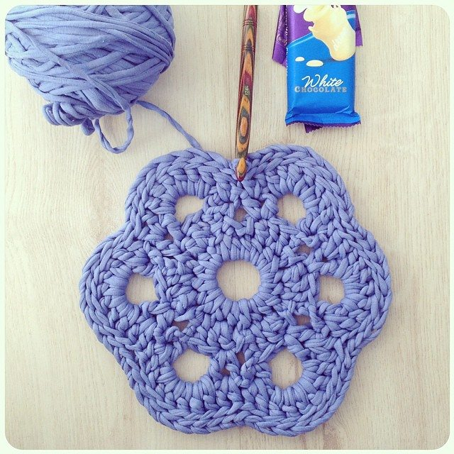 crochetinpaternoster crochet coaster tarn