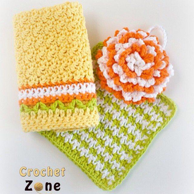crochetzoneblog crochet kitchen set