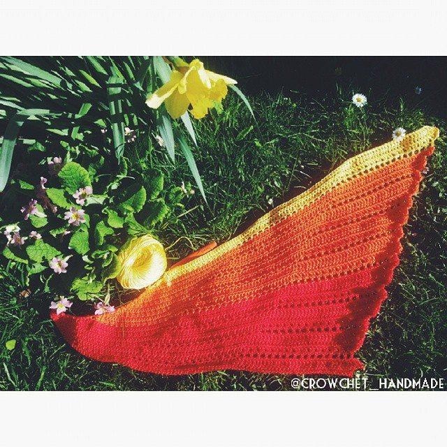 crowchet_handmade crochet shawl