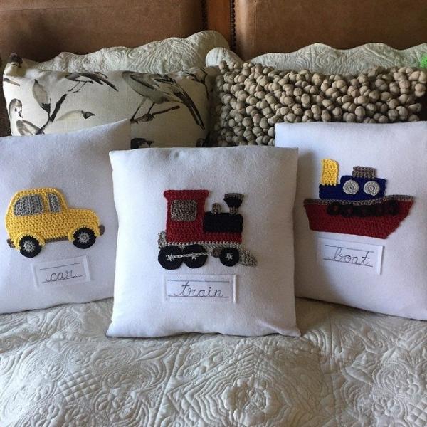 cuddlebugkids crochet pillows