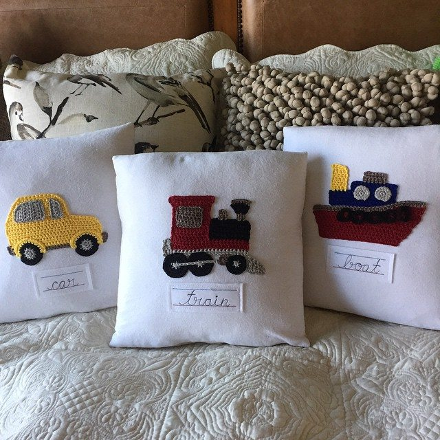 cuddlebugkids crochet pillows
