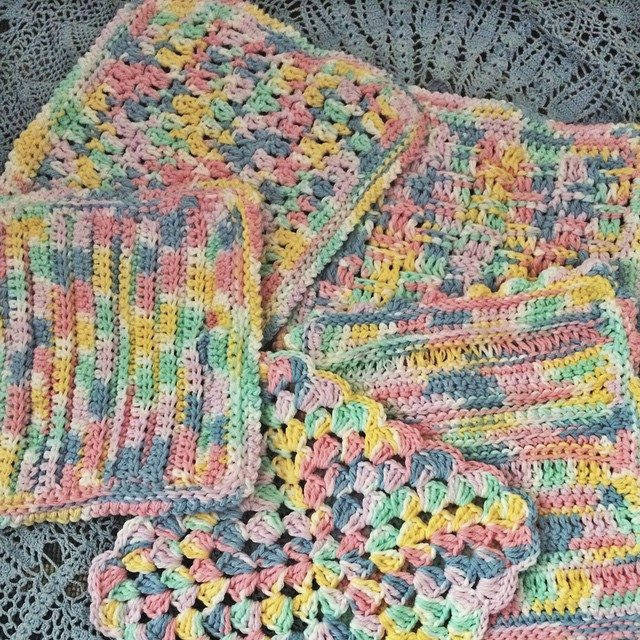 daniellajoe crochet cotton dishcloths