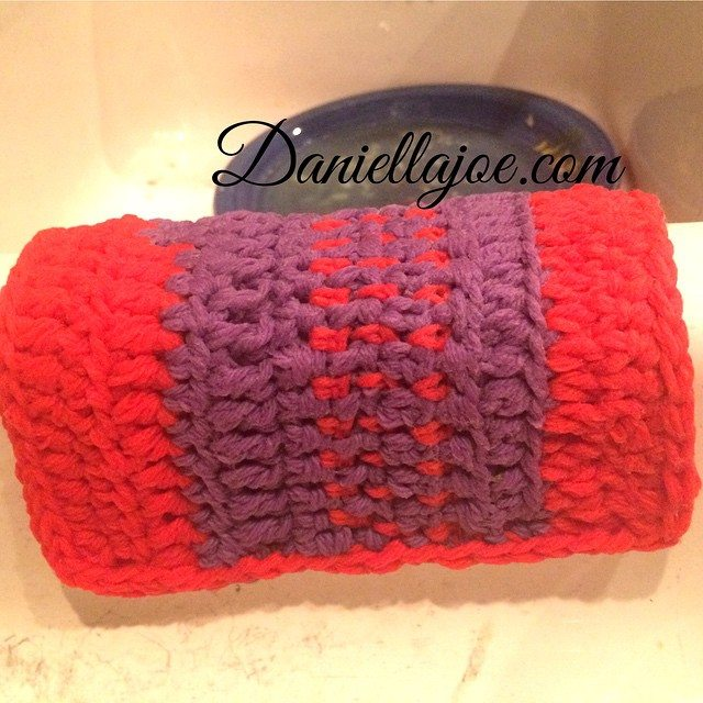 daniellajoe crochet red purple