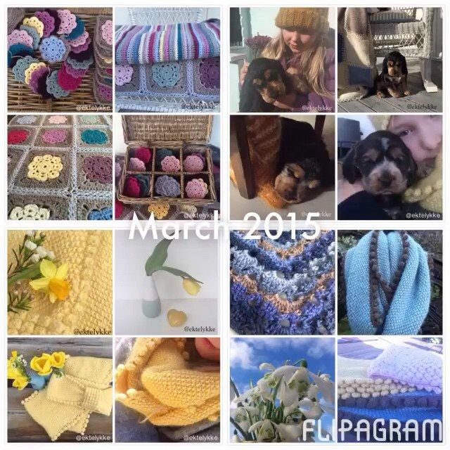 ektelykke crochet march collage