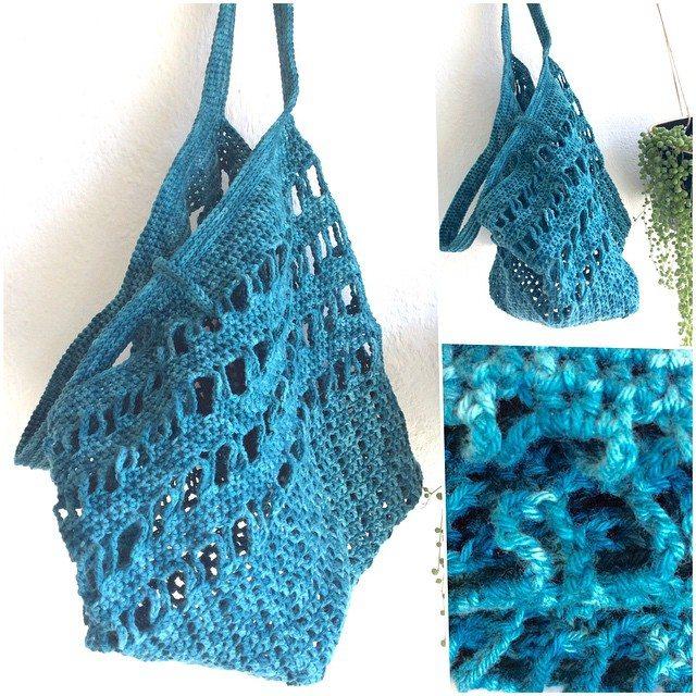elisabethandree crochet shopper bag