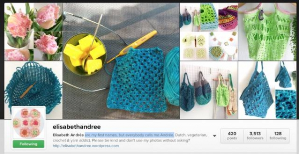 elisabethandree featured crochet instagrammer