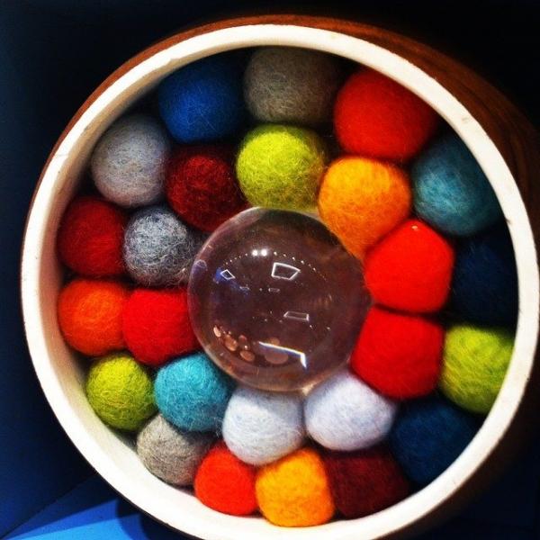 felt balls art
