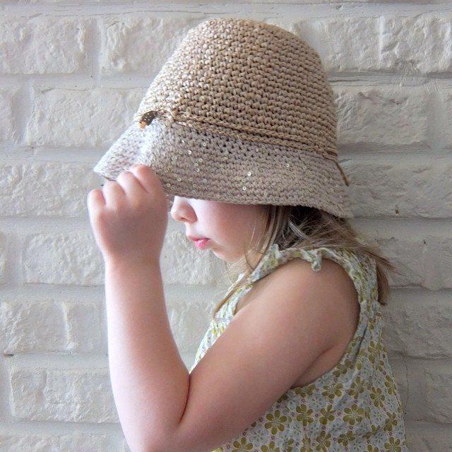 feranatal crochet raffia hat