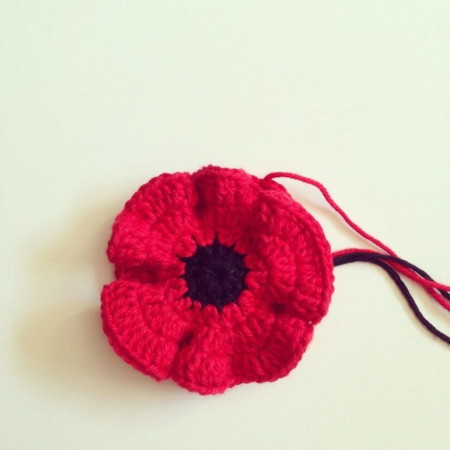 flamingpot crochet poppy